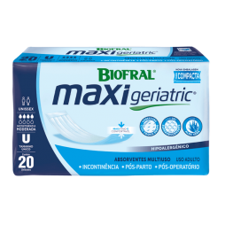 ABSORVENTE MAXI GERIATRICO C/20 BIOFRAL