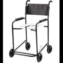 Cadeira de Banho c/ rodas OBESO -  PL-2001 PRETA
