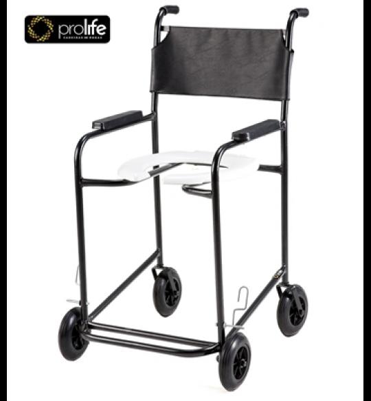 Cadeira De Banho C/Rodas Pl-201 Preta