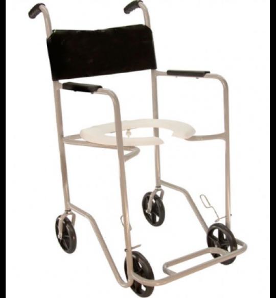 Cadeira De Banho C/Rodas Ri Pop Cinza