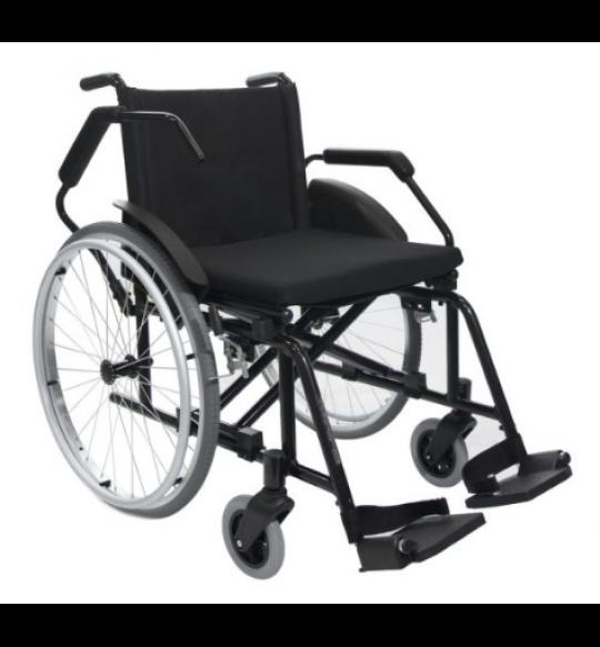 Cadeira De Rodas Nylon Poty 50cm - Preta -  Semi Obeso